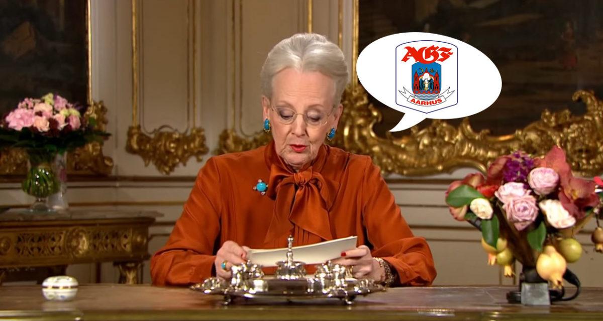 Få odds 100 på at Dronningen siger AGF i hendes nytårstale