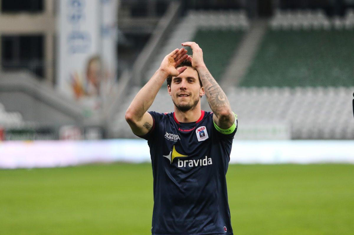 Startopstillingen mod OB: Daniel A Pedersen starter inde